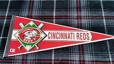 Vintage 1990's Cincinnati Reds Baseball Pennant