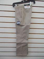 Boys Nautica $36 Uniform/Casual Khaki Flat Front Double Knee Pants Size 4 - 18