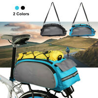 13L Bicycle Seat Rear Bag Bike Pannier Rack Pack Shoulder Bag Cycling   -UK-