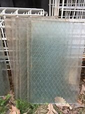 vtg industrial privacy window CHICKEN WIRE sash 18 x 10 7/8 RIBBED barn factory