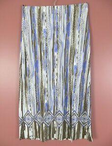 SK16374- CHICO'S Women's 95% Polyester Long Straight Skirt Front Split Geo 2 M L