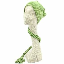 Hat Tail Knit Beanie Slouch Festival Cotton Hippy Striped New Green Space Dye
