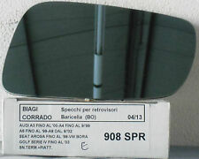 SPECCHIETTO RETROVISORE SPECCHIO VETRO PER AUDI A3 A6 AROSA BORA GOLF IV  908SPR