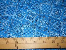 1 yard Blue  Bandana Fabric