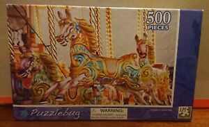 Puzzlebug. 'Merry Carousel'. Jigsaw Puzzle. 500 pieces. Brand New In Box!