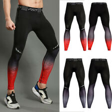 Men's Compression Pants Athletic Base Layers Running Gym Leggings Long Wicking