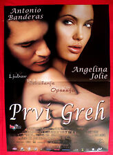 ORIGINAL SIN 2001 ANGELINA JOLIE BANDERAS THOMAS JANE UNIQU SERBIAN MOVIE POSTER
