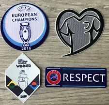 EURO 2016 CHAMPIONS + UNL WINNER 2019 PORTUGAL + Respect Patches