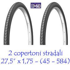 2 Copertoni SLICK 27,5 x 1,75 (45-584) stradali da MTB Mountain bike bicicletta