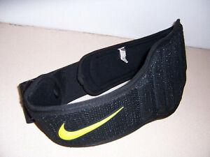 Nike Black Yellow Weight Power Lifting Structured Training Belt Unisex