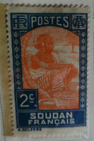 French Sudan 1930-38 Stamp 2c MNH Stamp Rare Antique StampBook1-89