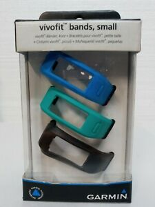 Genuine Garmin Vivofit Replacement  Bands 3 Pack Small NEW Blue Black Green