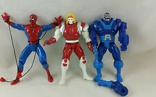 #B12  Lot of 3 Vintage Early 90's ToyBiz Marvel Superheroes Action Figure Looses
