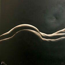Self Nude Portrait Acrylic On Canvas Original Art Painting Artist Jaqueline Cruz
