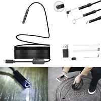Megapixels HD USB C Endoscope Type C Borescope Inspection Camera for Android VvV