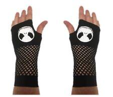 Nightmare Before Christmas Jack Skellington Fingerless Gloves Women's Black