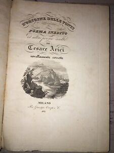 Cesare Arici - L'Origine delle Ponti, poema inedito - 1833