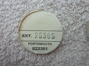 GPO BT P.O Original Used Telephone Dial Label 706 746 8746 Portsmouth Old phone
