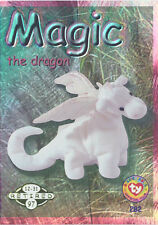 TY Beanie Babies BBOC Card - Series 2 Retired (GREEN) - MAGIC the Dragon - NM/M