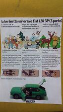 Pubblicità Advertising BERLINETTA FIAT 128 3 porte