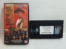KUNG FU KARATE FIGHT VHS MOVIE JET LI ONCE UPON A TIME IN CHINA AND AMERICA