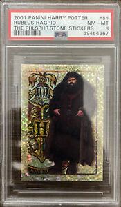 2001 Panini Harry Potter Philosopher's Stone Stickers #54 Rubeus Hagrid PSA 8