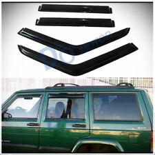 4pcs Smoke Sun/Rain Guard Vent Shade Window Visors Fit 84-01 Cherokee 4-Door XJ