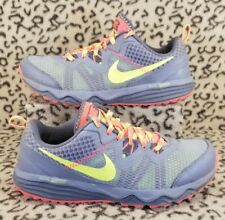 NIKE DUAL FUSION TRAIL WOMAN'S ATHLETIC SHOES SIZE 7 GRAY NEON 652869 008