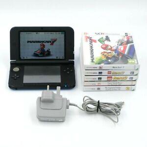Nintendo 3DS XL Console Blue With 5 Games, Mario Kart, Smash Bros, Lego Batman