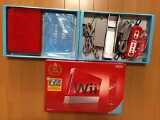 Nintendo Wii console Red Japan NTSC-J 25th Anniversary edition boxed set