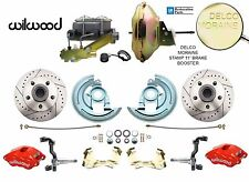 1964-1972 GM A, F, X Body Disc Brake Conversion Kit w/ Wilwood Red Calipers