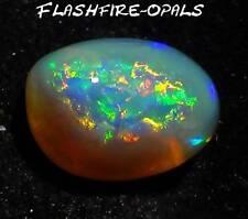 5.7ct GEM NOBBY OPAL RINGSTEIN BRILLIANT GRÜN GOLD ORANGE! Video FLASHFIRE-OPALS