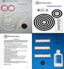 1973 Gottlieb Top Hand Pinball Tune-up Kit - Includes Rubber Ring Kit!