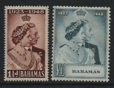 Bahamas 1948 royal silver Wedding unmounted mint set stamps superb