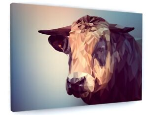 Abstract Cow Farm Animal Canvas Picture Print Wall Art C404