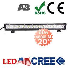 "SLIM DESIGN A&B 20"" 60W CREE-LED Light Bar Off Road Work Lamp 4800LM Spot +Flood"