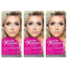 3 x Derma V10 Salon Fashion Permanent Hair Colour 11 Platinum Blonde