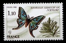 La mariposa Graellsia isabellae. 1W. Francia 1980