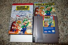 Mario is Missing (Nintendo Entertainment System NES, 1993) Complete GOOD H