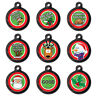 Custom Christmas Festive Pet Dog Cat ID Tag Pet Tags-Engraved FREE-Dog Name Tag