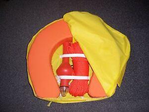 NEW Life Ring Buoy Lifebuoy Floating Buoyant Rope Line Light Horseshoe Rescue