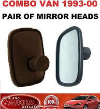 VAUXHALL COMBO B MK1 VAN WING MIRROR HEAD GLASS 1993-00 1 PAIR DRIVERS PASSENGER