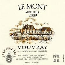 3 BT. Vouvray Le Mont Ier Trie Moelleux 2009 ( residuo zuccheri 98 gr / lt) HUET