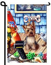 Yorkie painting Garden Flag Dog Art Yorkshire Terrier puppy banner Gift Shoppe