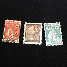 1913-1933 Macao Postage Stamps, Used, Unused Lot of 3