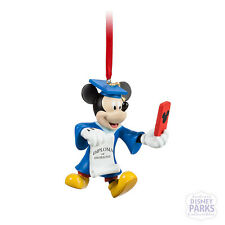 Disney Parks Mickey Mouse Graduate Figural Ornament Graduation Selfie Diploma