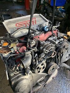 Subaru impreza 02-05 STi EJ207 Complete Running Engine video clip 2.0 UK