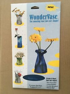 NIP- WonderVase Create A Vase-Frosted Blue- Shape A Vase 6x11