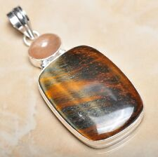 "Handmade Pietersite Quartz  Gemstone 925 Sterling Silver Pendant 2.5"" #P11255"