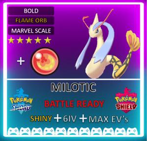 Pokemon Sword & Shield 6IV MAX EVs Shiny Milotic! Any Item! INSTANT NOT Ditto